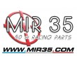 Autocollant MIR35 50cc Racing Parts logo 2015 fond Transparent (55x85mm)