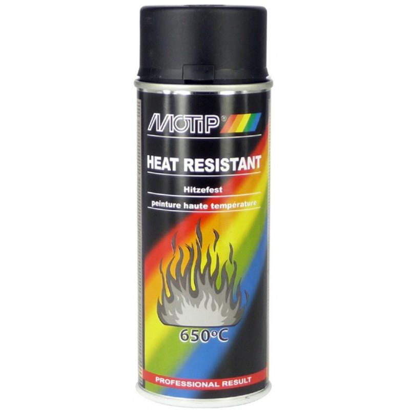 Bombe peinture silicone noir haute temp rature 800 moteur for Bombe de peinture pour radiateur