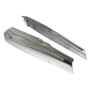 Pair cache lateral reservoir chrome for peugeot 103